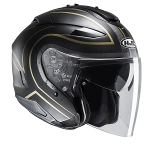 CASQUE JET HJC IS-33 II APUS NOIR OR
