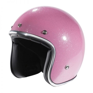 CASQUE JET NOX N242 ROSE PAILLETTE