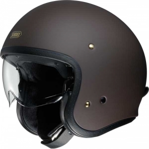 CASQUE JET SHOEI J.O UNI MARRON
