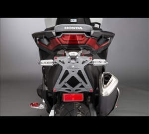 Support de plaque réglable LIGHTECH noir Honda X-Adv