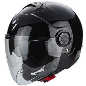 CASQUE JET SCORPION EXO CITY NOIR BRILLANT