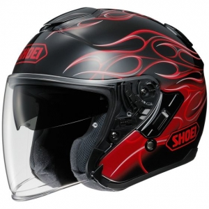 CASQUE JET SHOEI J CRUISE FLAMME ROUGE SANG