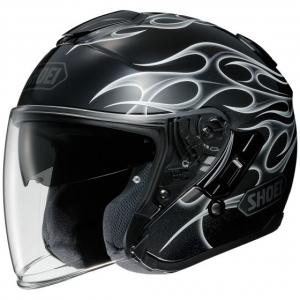CASQUE JET SHOEI J CRUISE FLAMME NOIR REBORN TC 5