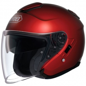 CASQUE JET SHOEI J CRUISE ROUGE WINE RED MAT