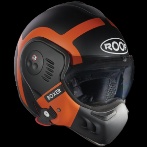 CASQUE MODULABLE ROOF V8 BOXER RO5 BOND NOIR ORANGE MAT