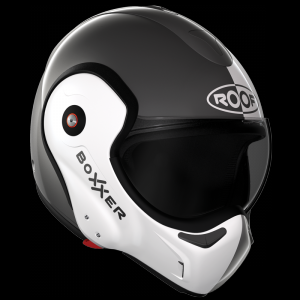 CASQUE MODULABLE BOXXER FACE METAL BLANC NACRE BICOLOR